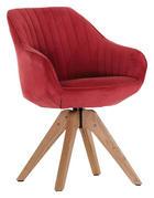 STUHL Velours Rostfarben, Rot - Eichefarben/Rostfarben, Design, Holz/Textil (60/83/65cm) - Hom`in