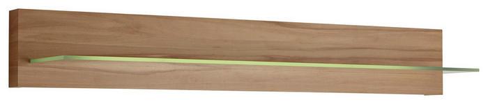 WANDBOARD in 60/17/22 cm Eichefarben - Eichefarben, KONVENTIONELL, Glas/Holz (60/17/22cm) - Voleo