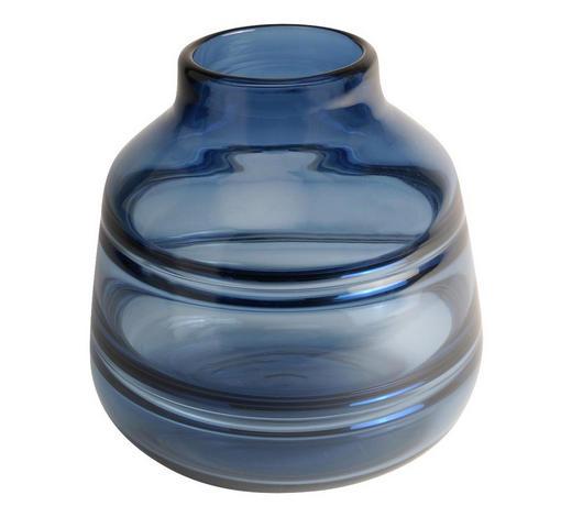 VASE 17,5 cm - Blau, Design, Glas (17/17,5cm)