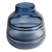 VÁZA - modrá, Design, sklo (17/17,5cm)