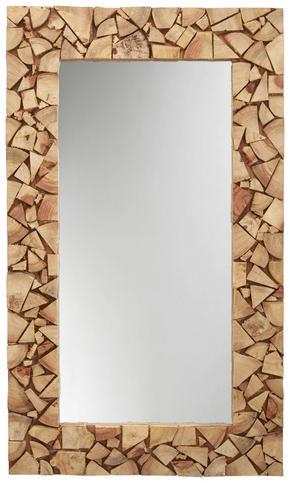 SPEGEL - akaciefärgad, Trend, glas/trä (120/70/4cm) - Landscape