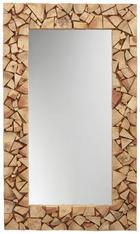 OGLEDALO, 120/70/4 cm les, steklo - akacija, Trendi, steklo/les (120/70/4cm) - Landscape