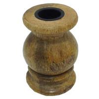 DRŽÁK NA ČAJOVOU SVÍČKU - hnědá, Lifestyle, dřevo (6/10cm) - Ambia Home