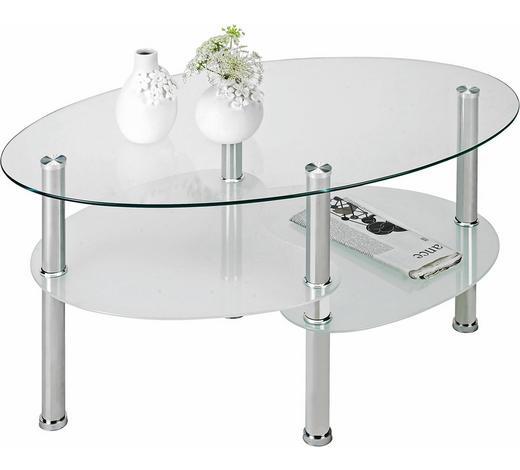KONFERENČNÍ STOLEK, barvy nerez oceli - barvy nerez oceli, Design, kov/sklo (90/55/45cm) - Boxxx