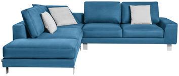 WOHNLANDSCHAFT in Textil Blau  - Chromfarben/Blau, Design, Textil/Metall (273/316cm) - Dieter Knoll