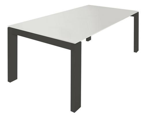 ESSTISCH rechteckig Grau, Weiß - Weiß/Grau, Design (160/100/75cm) - Now by Hülsta