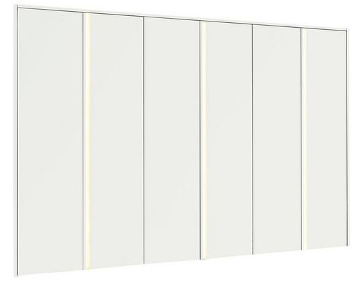 DREHTÜRENSCHRANK 6-türig Weiß - Alufarben/Weiß, Design, Holzwerkstoff/Metall (302/229/61cm) - Hülsta