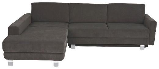 WOHNLANDSCHAFT - Alufarben/Braun, KONVENTIONELL, Textil/Metall (200/271+13cm) - Sedda