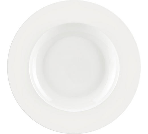 SUPPENTELLER Bone China  - Weiß, Basics, Keramik (22,5cm) - Novel