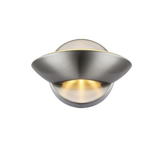 LED-WANDLEUCHTE - Nickelfarben, KONVENTIONELL, Metall (16,5/11cm)