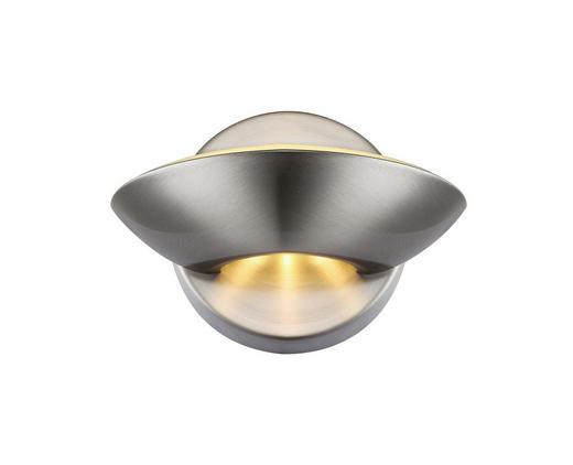 WANDLEUCHTE - Nickelfarben, KONVENTIONELL, Metall (16,5/11cm)