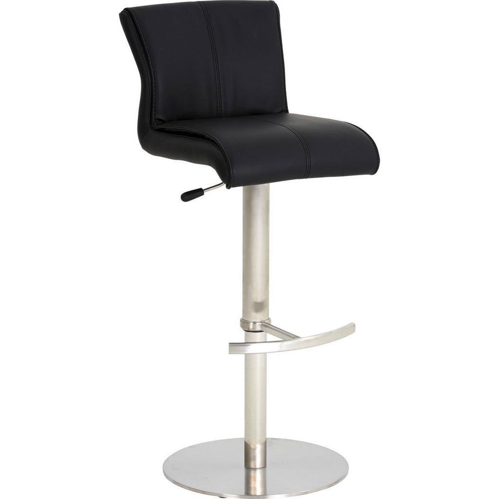 Barová Židle Černá Barvy Nerez Oceli Dieter Knoll