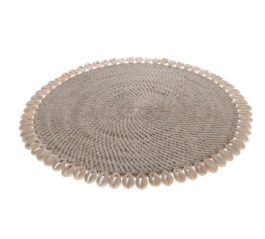 Muschel Platzteller ca. 33 cm - Weiß, Trend (33cm)