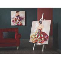 BILD - Multicolor, LIFESTYLE, Holz/Textil (100/100cm) - Monee