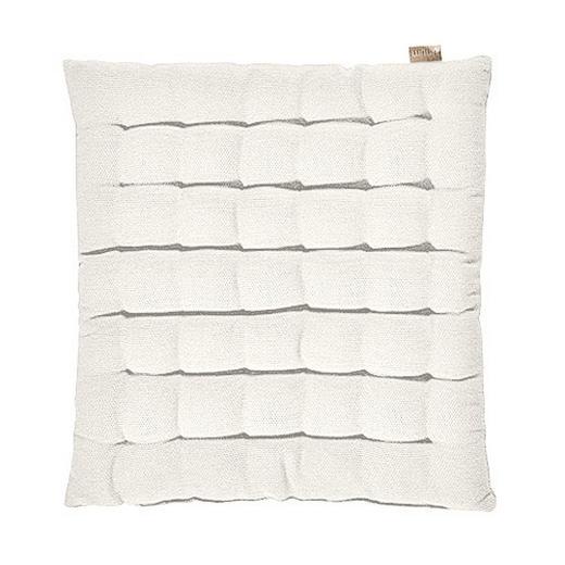 SITZKISSEN Weiß 40/40/3 cm - Weiß, Basics, Textil (40/40/3cm) - Linum