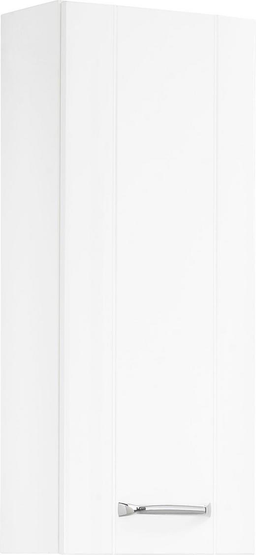 OBERSCHRANK Weiß - Chromfarben/Weiß, KONVENTIONELL, Glas/Holzwerkstoff (30/73/18cm) - Xora