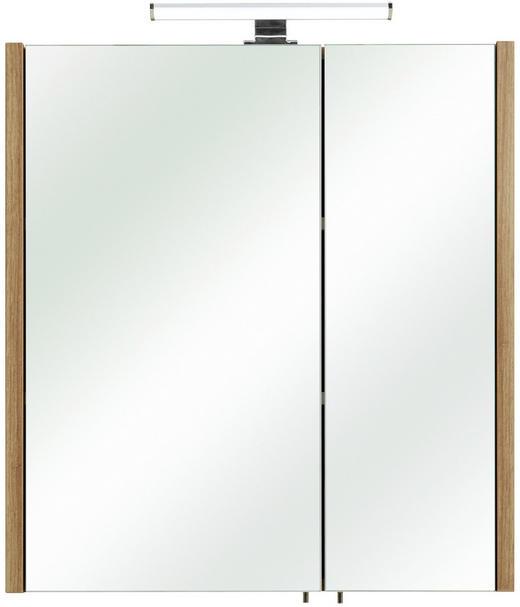 SPIEGELSCHRANK Eichefarben - Eichefarben, MODERN, Glas/Holzwerkstoff (62/70/20cm) - Xora