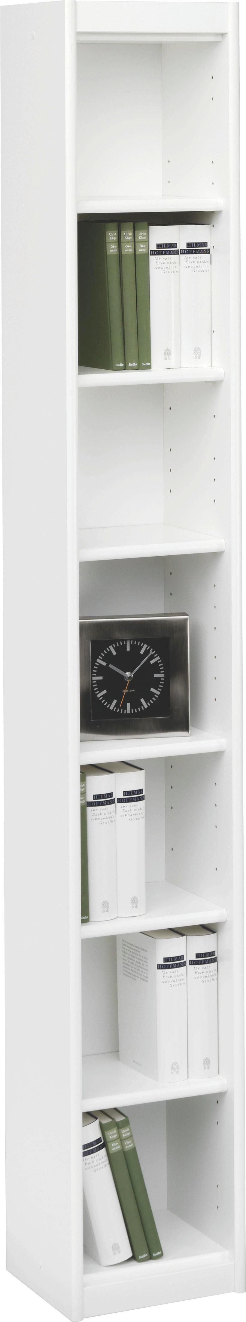 REGAL in Weiß - Weiß, KONVENTIONELL, Holzwerkstoff (28/194/26cm) - CS SCHMAL
