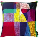 KISSENHÜLLE Blau, Gelb, Lila, Rot, Schwarz  - Blau/Gelb, Trend, Textil (46x46cm) - Esposa