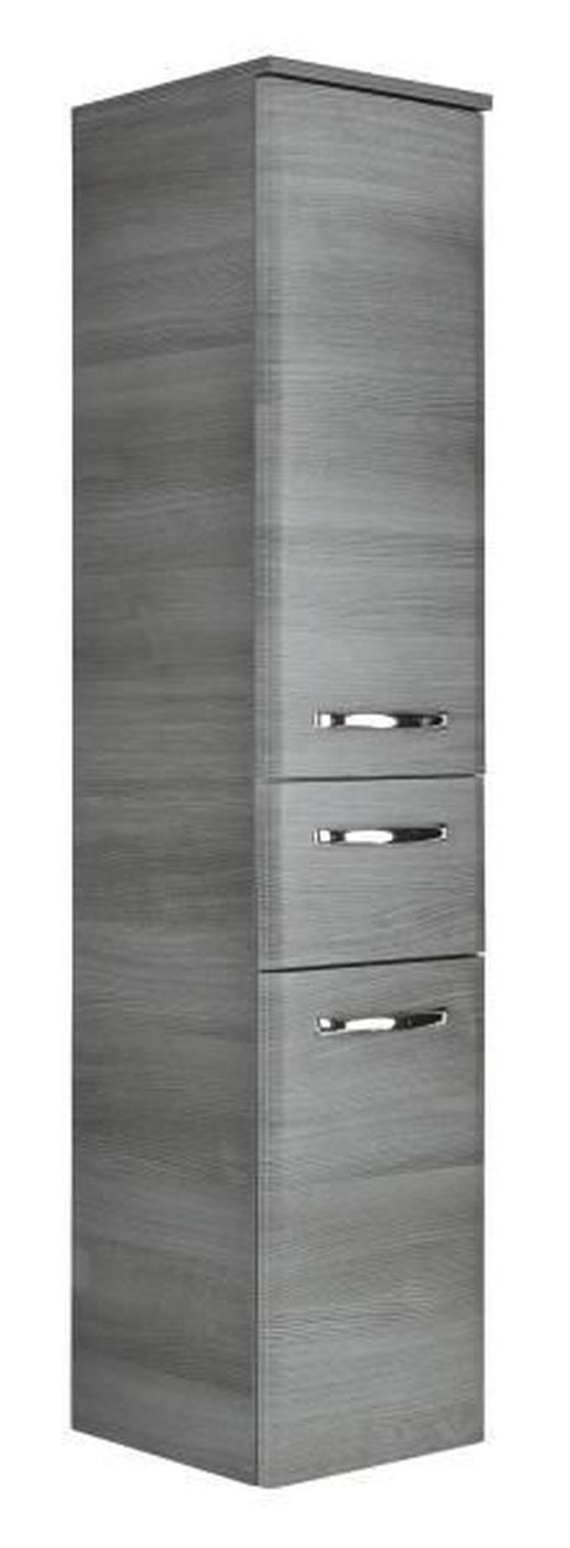 MIDISCHRANK Graphitfarben - Chromfarben/Graphitfarben, Design, Holz (30/141/33cm) - Xora