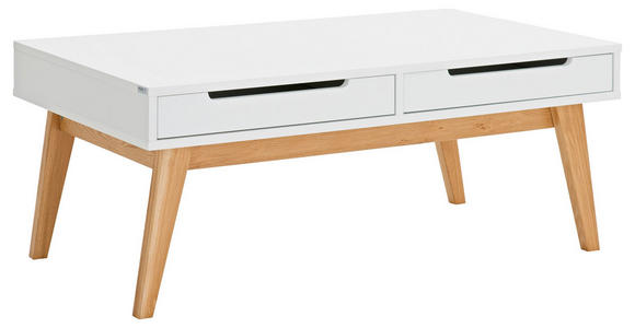 COUCHTISCH in Holz, Holzwerkstoff 110/65/46 cm - Eichefarben/Weiß, Design, Holz/Holzwerkstoff (110/65/46cm) - Hom`in