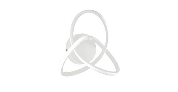 LED-WANDLEUCHTE - Weiß, Design, Kunststoff/Metall (30/15/29cm) - Ambiente