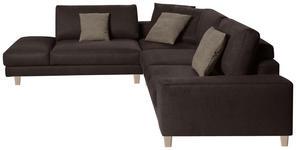 WOHNLANDSCHAFT in Textil Braun  - Hellbraun/Eichefarben, Design, Holz/Textil (273/316cm) - Dieter Knoll