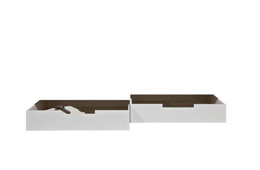 BETTSCHUBKASTEN Weiß 198/21/70 cm - Weiß, LIFESTYLE, Holz/Kunststoff (198/21/70cm) - Carryhome