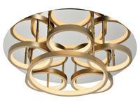 LED-DECKENLEUCHTE   - Goldfarben/Weiß, Design, Kunststoff (52/16cm) - Ambiente