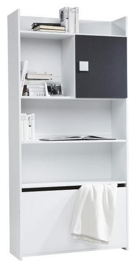 REGAL in 95/197/33 cm Grau, Weiß - Weiß/Grau, Design, Holz/Holzwerkstoff (95/197/33cm) - Boxxx