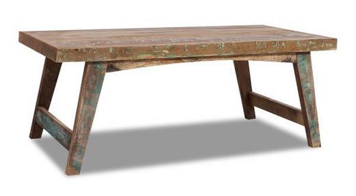 COUCHTISCH Recyclingholz massiv rechteckig Multicolor - Multicolor, LIFESTYLE, Holz (120/60/45cm) - Landscape