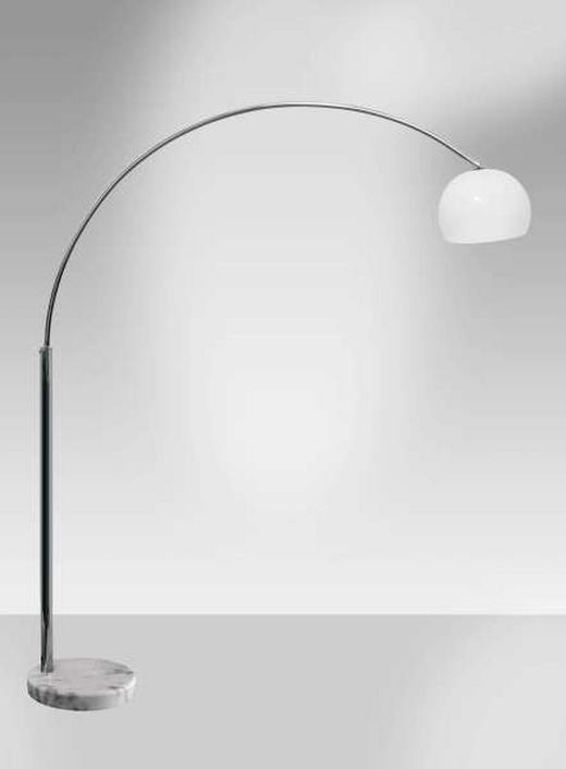 BOGENLEUCHTE - Weiß/Nickelfarben, KONVENTIONELL, Kunststoff/Stein (180/40/200cm) - NOVEL