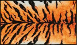 FUßMATTE 75/120 cm Tiger Orange, Schwarz  - Schwarz/Orange, Kunststoff/Textil (75/120cm) - Esposa