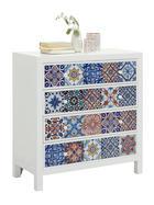 KOMODA, bela, večbarvno - bela/večbarvno, Design, leseni material/keramika (85/92/38cm) - Ambia Home