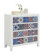 KOMODA, večbarvno, bela  - bela/večbarvno, Design, leseni material/keramika (85/92/38cm) - Ambia Home