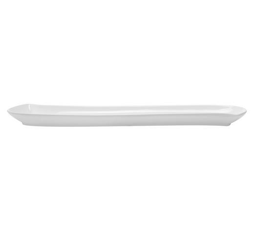 OLIVENSCHALE Keramik Porzellan  - Weiß, Basics, Keramik (46,7/9,5/2,9cm) - Novel