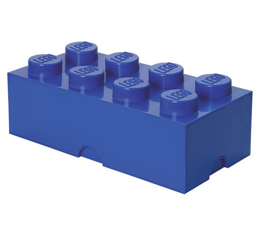 AUFBEWAHRUNGSBOX 50/25/18 cm  - Blau, Trend, Kunststoff (50/25/18cm) - Lego