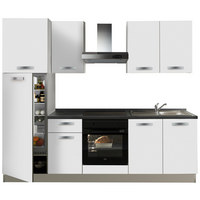 KUHINJSKI BLOK - bijela/siva, Moderno, drvni materijal (255cm) - Italstyle