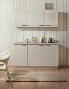 KUHINJSKI BLOK - boje hrasta/bež, Design, drvni materijal (150cm) - Welnova