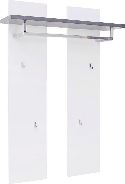 GARDEROBENPANEEL 91/135/25 cm - Weiß/Grau, Design, Holzwerkstoff (91/135/25cm) - Novel