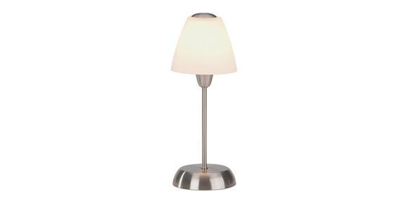 Tischleuchte Meli - Weiß/Nickelfarben, KONVENTIONELL, Glas/Kunststoff (35cm) - Ombra
