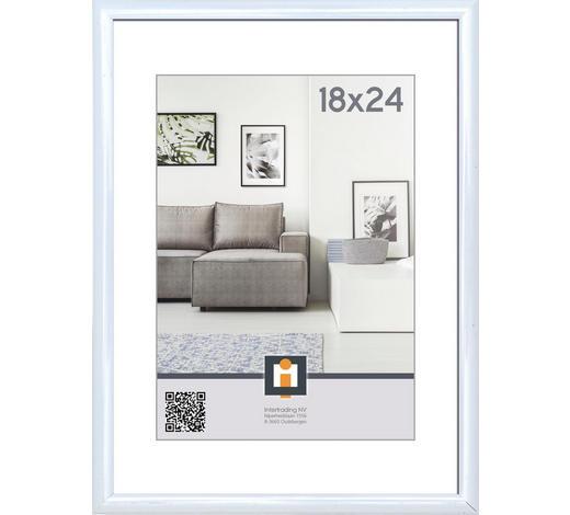 OKVIR ZA SLIKE 107019, 18/24 - bela, Basics, umetna masa/steklo (18/24cm)