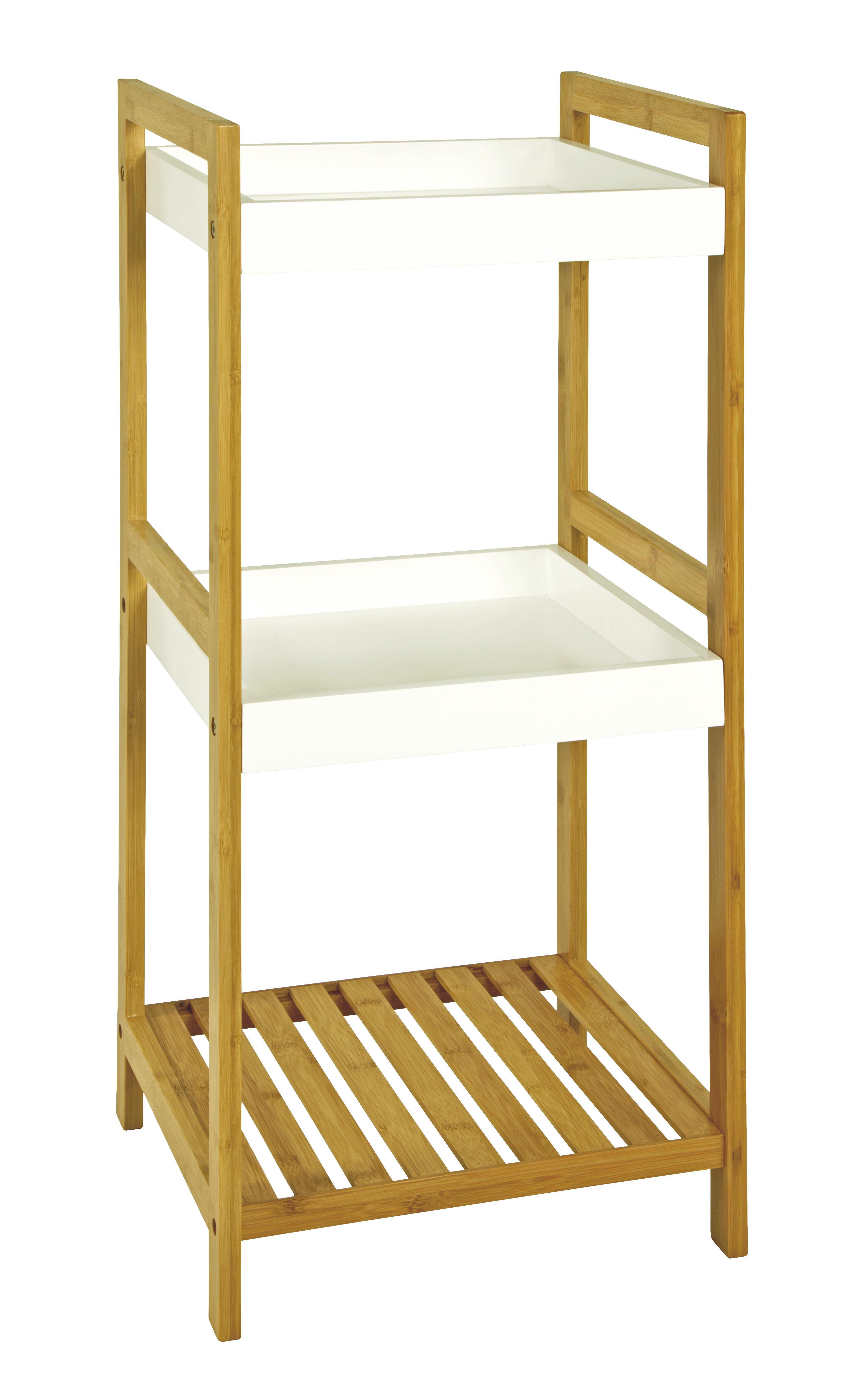 REGAL Bambus Naturfarben, Weiß - Naturfarben/Weiß, Basics, Holz/Holzwerkstoff (36/86/33cm)