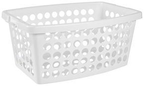 TVÄTTKORG - vit, Basics, plast (56/39/22cm)
