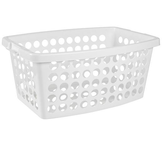 WÄSCHEKORB - Weiß, Basics, Kunststoff (56/39/22cm) - Plast 1