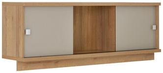HÄNGEELEMENT Eichefarben, Sandfarben - Sandfarben/Eichefarben, Design, Glas/Metall (150/53,9/33cm) - Voleo