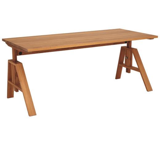SCHREIBTISCH - Eichefarben, Design, Holz (80/180cm) - Team 7