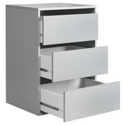 SCHUBKASTENEINSATZ Grau - Grau, Design (98,7/70,6/39,6cm) - Carryhome