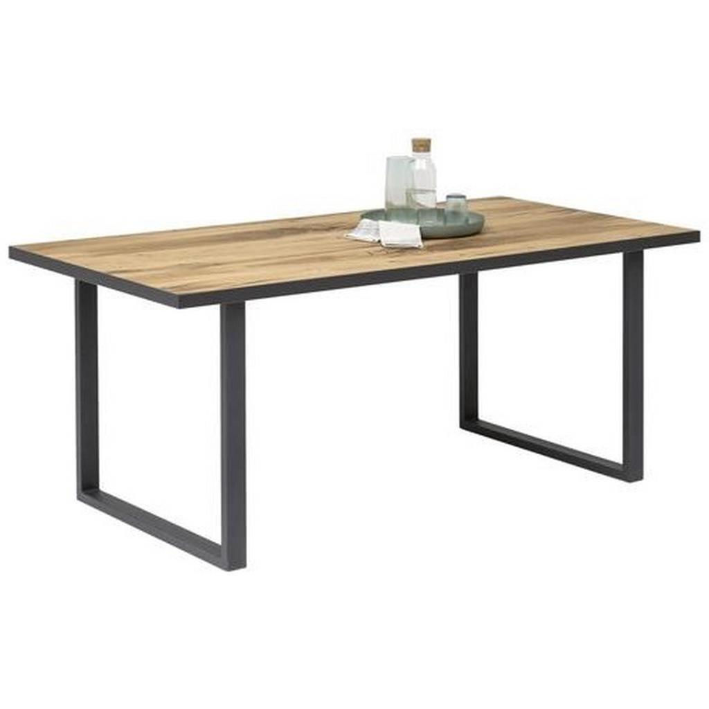 Carryhome Esstisch , Alteiche , Holz , Eiche , furniert , rechteckig , U-Form , 90x75 cm , in verschiedenen Größen erhältlich , Esszimmer, Tische, Esstische