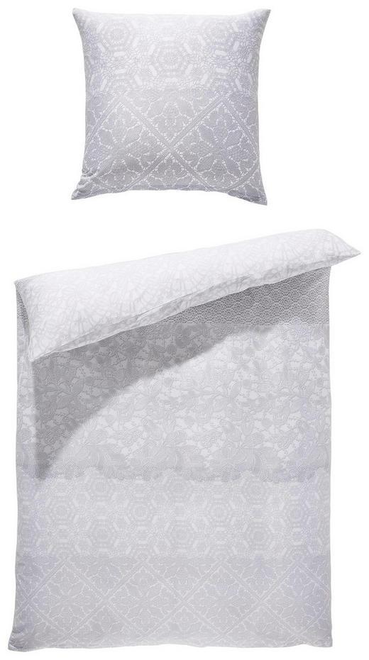 BETTWÄSCHE Satin Silberfarben, Weiß 135/200 cm - Silberfarben/Weiß, LIFESTYLE, Textil (135/200cm) - Esposa